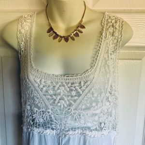 SOLITAIRE..lace & embroidery dress/beach coverup